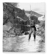 Scotland: Fishing, 1880 Fleece Blanket