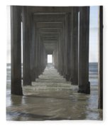 Scripps Pier La Jolla California 5 Fleece Blanket