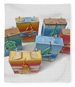 Sea Boxes Fleece Blanket