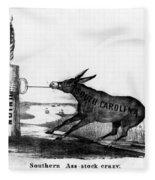 Secession Cartoon, 1861 Fleece Blanket