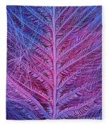 Sem Of Eastern Bluebird Feathers Fleece Blanket