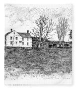 Shays Rebellion, 1787 Fleece Blanket