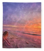 Shelling Fleece Blanket
