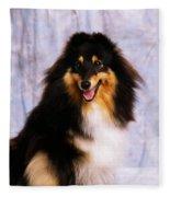 Shetland Sheepdog Portrait Of A Dog Fleece Blanket