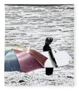 Surfer Umbrella Fleece Blanket