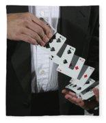 Shuffling Cards Fleece Blanket
