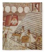 Siege Of Tenochtitlan 1521 Fleece Blanket