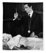Silent Film Still: Doctor Fleece Blanket