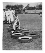 Silent Film Still: Sports Fleece Blanket