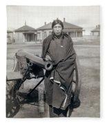 Sioux Warrior, 1891 Fleece Blanket