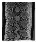 Snake Skin In Black And White Fleece Blanket