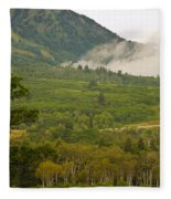 Snowbasin Utah Fleece Blanket