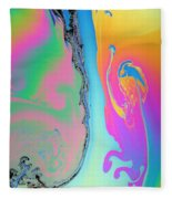 Soap Film Fleece Blanket