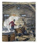 Soap Manufacture, C1870 Fleece Blanket