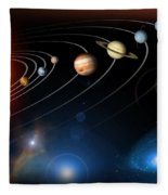 Solar System Fleece Blanket
