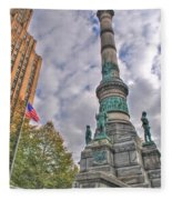 Soldiers And Sailors Monument In Lafayette Square Fleece Blanket
