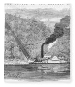 South: Cotton, 1861 Fleece Blanket