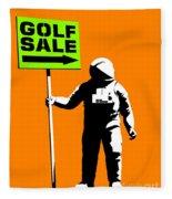 Space Golf Sale Fleece Blanket