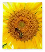 Spider And The Bees Fleece Blanket