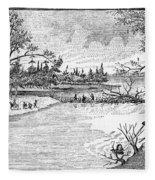 Spirit Lake Massacre, 1857 Fleece Blanket