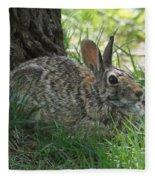 Spring Time Rabbit Fleece Blanket