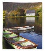 St. Finbarres Oratory And Rowing Boats Fleece Blanket
