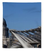 St Pauls Cathedral And The Millenium Bridge  Fleece Blanket