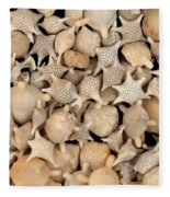 Star Sand Foraminiferans Fleece Blanket