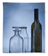 Still Life Of Bottles  Fleece Blanket