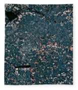 Stoneface At Hossa With Stone Age Paintings Fleece Blanket