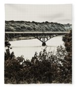 Strawberry Mansion Bridge From Laurel Hill Fleece Blanket