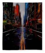 Streets Of New York  Fleece Blanket