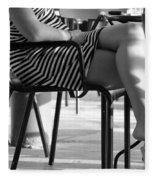 Stripped Dress Fleece Blanket
