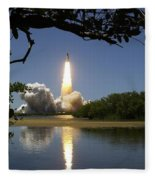 Sts-121 Launch Fleece Blanket