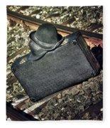 Suitcase And Hats Fleece Blanket