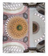 Suleymaniye Mosque Ceiling Fleece Blanket
