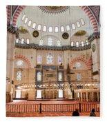 Suleymaniye Mosque Interior Fleece Blanket