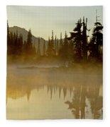 Sunlight On An Alpine Lake Fleece Blanket