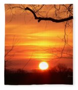 Sunrise In Tennessee Fleece Blanket