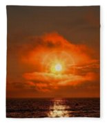 Sunset Over The Pacific Fleece Blanket