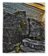 Sunset Please On The Rocks Fleece Blanket