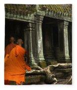 Ta Prohm Cambodia Fleece Blanket