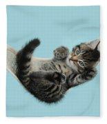 Tabby Kitten In Hammock Fleece Blanket