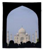 Taj Mahal, Agra India Fleece Blanket