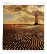 Talacre Lighthouse Fleece Blanket