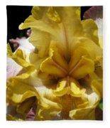 Tall Bearded Iris Named Butterfingers Fleece Blanket