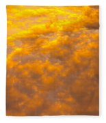 Tangerine Sky Fleece Blanket