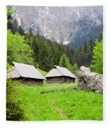 Tatra Mountains In Poland Fleece Blanket