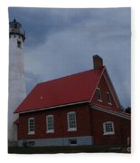 Tawas Point Lighthouse Fleece Blanket