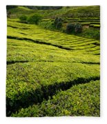 Tea Gardens Fleece Blanket